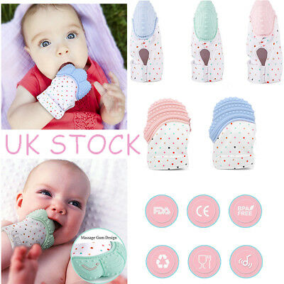 UK Baby Silicone Mitts Teething Mitten Teething Glove Candy-Wrapper-Soft-Teether