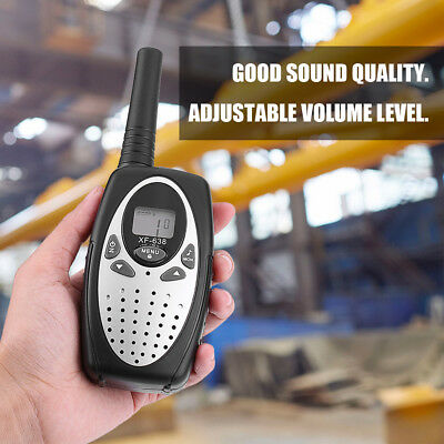 1 Set Walkie Talkie 22CH 2-Way Radio Interphone Up to 3Km Range Battery Power AL