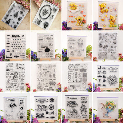 Clear Silicone Transparent Stamp Cling Seal DIY Scrapbook Album Embossing Decor