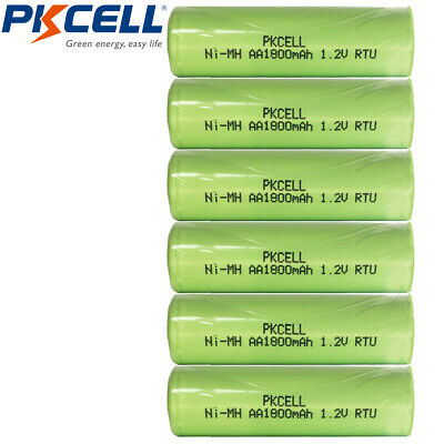 6 x LSD Batteries AA Ni-MH 1800mAh 1.2V NiMH Rechargeable Battery Flat Top