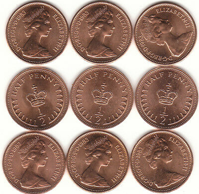 1983 Half Pence ½ p Mint 2 For 99p Coin Hunt