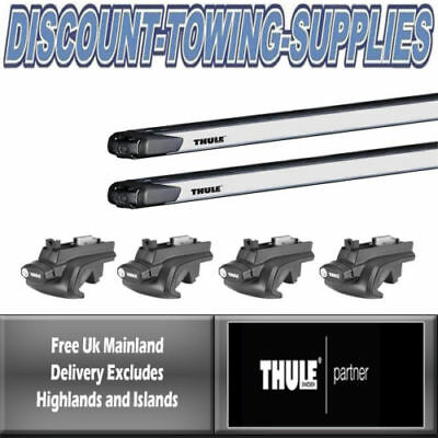 Thule 753 Square Roof Bars PEUGEOT 5008 MPV With Fixpoint 09-17