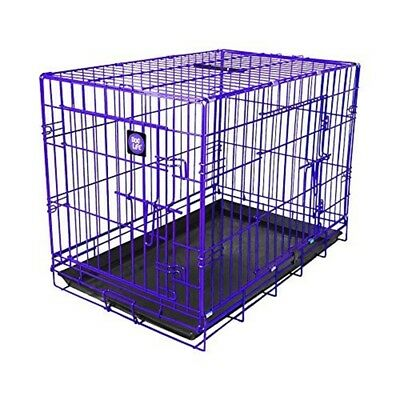 James & Steel My Pet Dog Crate, Purple, 36-inch - Dogs Life Amazing Colour Pop