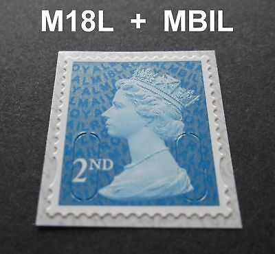2018 2nd Class M18L + MBIL MACHIN SINGLE STAMP from Business Sheets