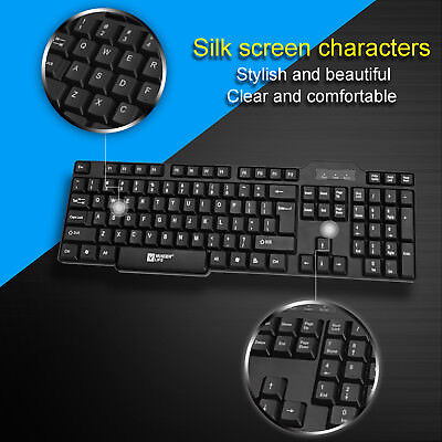 USB PC Office Business Tastaturen Keyboard Slim Multimedia PC Computer Tastatur