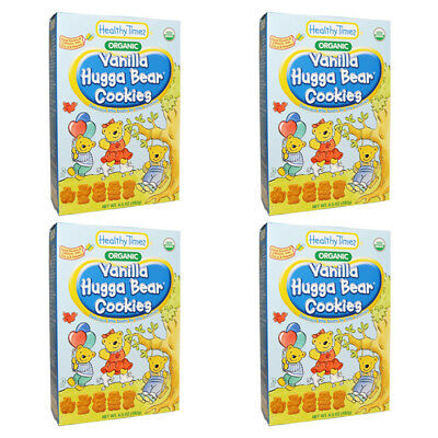 4X Healthy Times Organic Hugga Bear Cookies Vanilla Baby Feeding Daily Meal