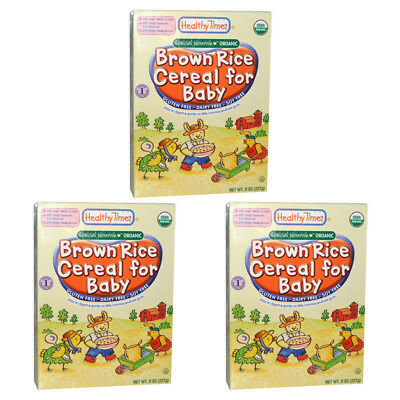 3X Healthy Times Special Nourish Organic Brown Rice Cereal For Baby Gluten Free