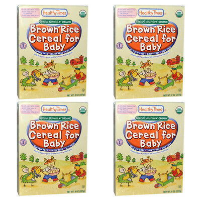 4X Healthy Times Special Nourish Organic Brown Rice Cereal For Baby Gluten Free