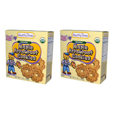 2X Healthy Times Organic Arrowroot Cookies Baby Feeding Teething Biscuits Daily