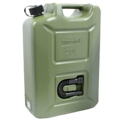 Jerry Fuel Can 20 Litre Ltr Green Plastic Diesel Gasoline Petrol Oil Kerosene