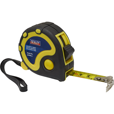 Sealey Rubber Jacket Measuring Tape Imperial & Metric 10ft / 3m 16mm