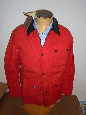 Barbour International Bernardo Cotton Moto Jacket Leather Collar  NWT Large $399