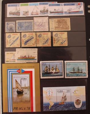 Carribean Stamps and Mini Sheets MH MNH Used Praga 78 Stamp Day Ships