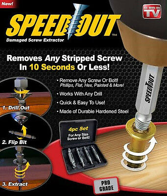 Wholsesale Speed Out 4Pcs Damaged Screw Extractor&Bolt Extractor Set-Easy to Use
