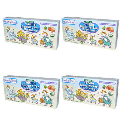 4X Healthy Times Organic Vanilla Biscuit For Teethers Calcium Source Daily Care