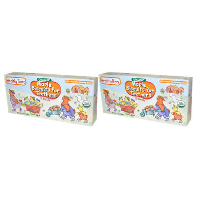 2X Healthy Times Organic Maple Biscuit For Teethers Calcium Source Daily Care