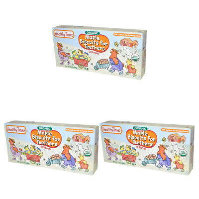 3X Healthy Times Organic Maple Biscuit For Teethers Calcium Source Daily Care