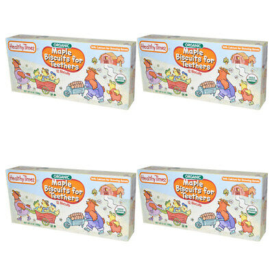 4X Healthy Times Organic Maple Biscuit For Teethers Calcium Source Daily Care