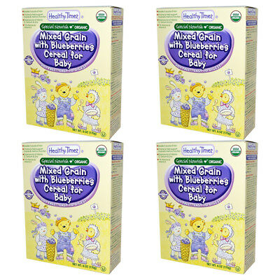 4X Healthy Times Organic Mixed Grain With Blueberries Cereal For Baby Feeding
