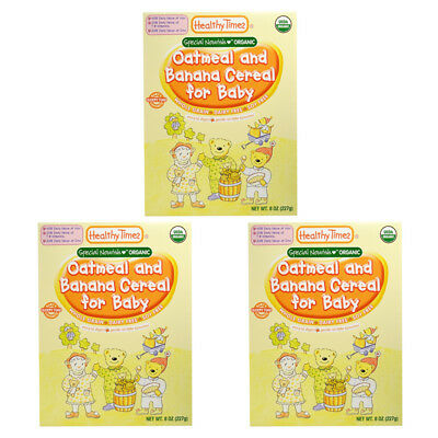 3X Healthy Times Organic Oatmeal & Banana Cereal For Baby Feeding Daily Care