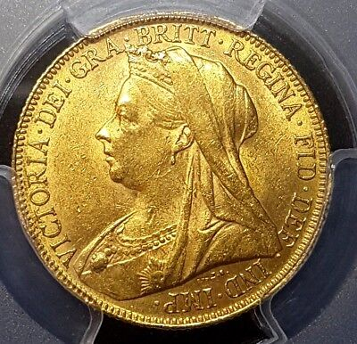 1900-P Qeen Victoria Gold Full Sovereign Coin Pcgs-Ms62