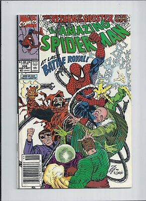 """Amazing Spider-Man #338 NM- (9.2) 1990 """"Battle Royal""""! See High Res SCANS!"""
