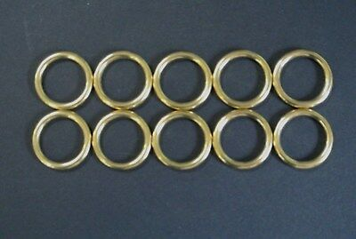 Solid Brass O-Rings For Leads Collars Horse Reigns Leather Crafts 16mm 20mm 25mm