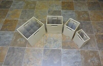 Wine Box Crate Rack 12, 6, 4, or 2 bottle size