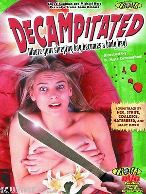 Decampitated (DVD, 2003) LN Rare OOP Out of Print Hard to Find HTF TROMA