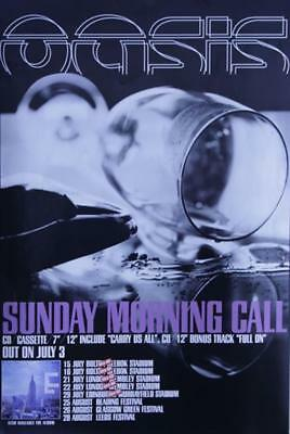 Oasis (UK) Sunday Morning Call UK poster promo 20 X 30 BIG BROTHER
