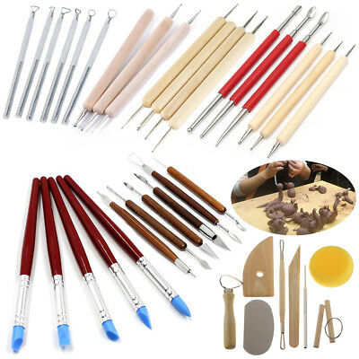 LOT Clay Sculpting Set Wax Carving Pottery Tools Shapers Polymer Modeling