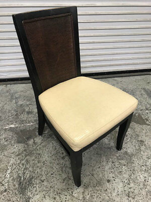 Wooden Chair Light Beige Cushion Seat #8213 Restaurant Seating Dining