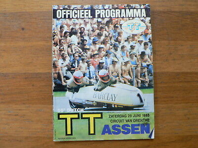 1985 Dutch Tt Assen Programme. Grand Prix,moto Gp,lawson,spencer,mcelnea Cs