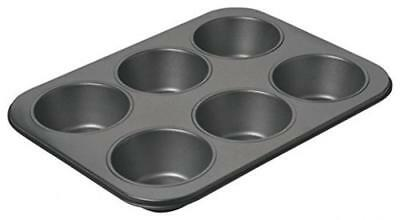 ST @ Llion® baking pan/metallo/muffin vassoio, Black, 6 Hole (pack of 1)