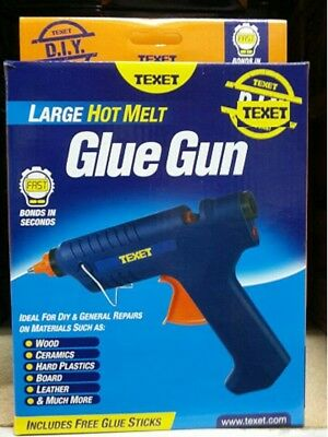 Text Large Hot Melt Glue Gun Includes Free Glue Sticks