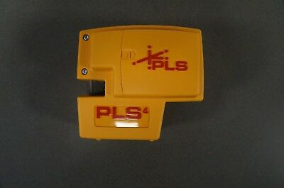 PLS 4 Red Cross Line Laser Level KIT with Plumb, Bob and Level, PLS-60588