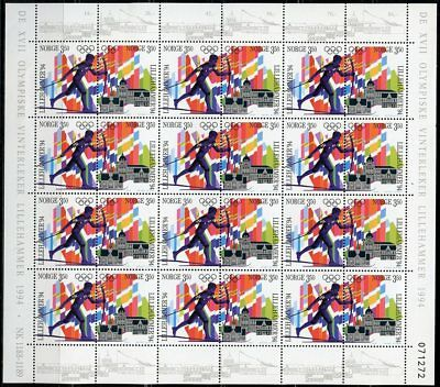 Norway 1994 Lillihammer Olympics  Sheet Of 24   Mint Nh