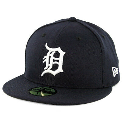 New Era 59Fifty Detroit Tigers HOME Fitted Hat (Dark Navy) MLB Cap