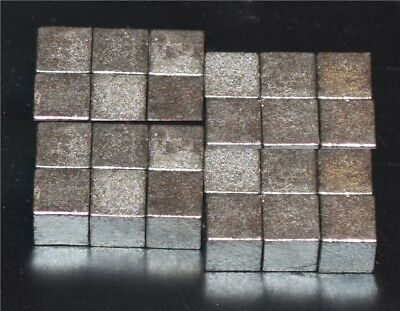"""Tungsten Cubes 1/4"""" for Pinewood Derby Car Weight 4oz = 24 pcs low price+ship"""