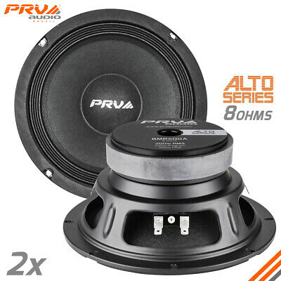 "2x PRV Audio 8MR400A 8"" Midrange Alto Series Speaker 400W 8 Ohms 8MR Mid"