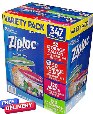 Ziploc Freezer Food Bags Variety Pack 347 Bags