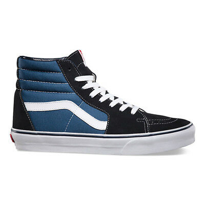 "Vans ""Sk8-Hi"" Sneakers (Navy) Men's Canvas Suede Skateboard High-Top Shoes"