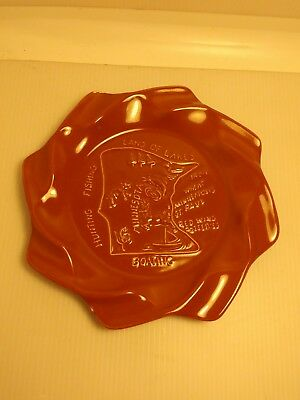 Red Wing Land Of Lakes Minnesota Ashtray Red Wing Pottery Potteries