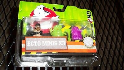 Ghostbusters Ecto Minis X3 Pack Of 3 Mini Figures -- New Unopened