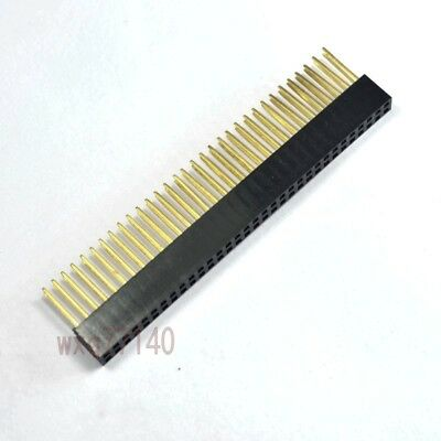 5pcs 2.54mm 2x32 64 pin Double Row Female stackable Straight Header socket Strip