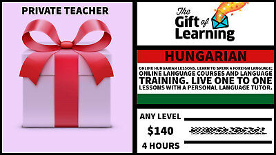 Hungarian language course with private Teacher gift card