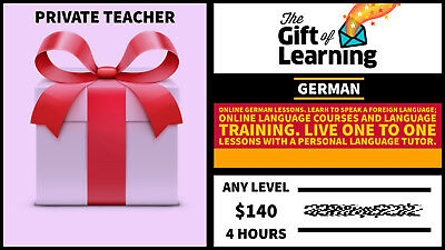 Gift card : German language course with private Tutor with discount