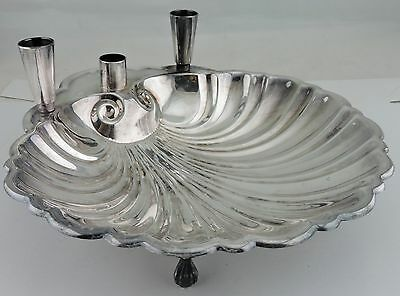 Vintage Silver Plate Bowl Dish Seafood Cocktail Serving Shell Sheffield
