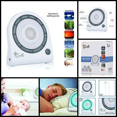 6 Nature Relaxation Sounds Sleep Light Soothing Machine For Baby Easy Sleep New