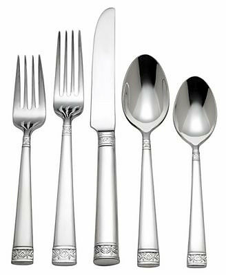 Waterford LISMORE NOUVEAU 5 Piece Place Setting 18/10 Stainless Flatware NEW